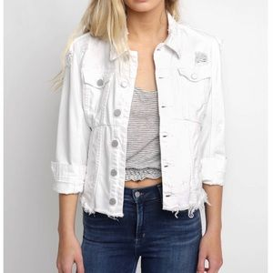 Blank white denim jacket XS NEW without tags